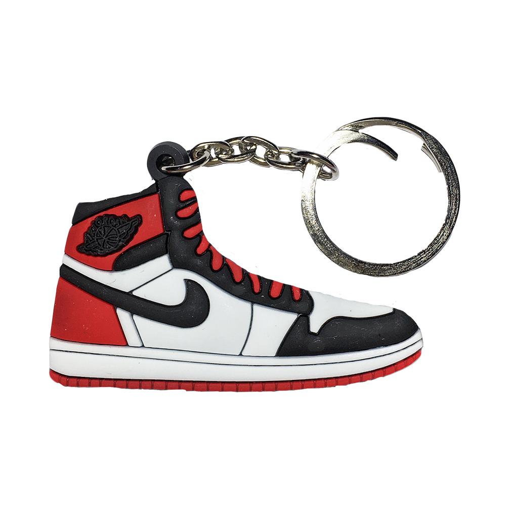"Jordan 1 ""Black Toe"" Keychain"