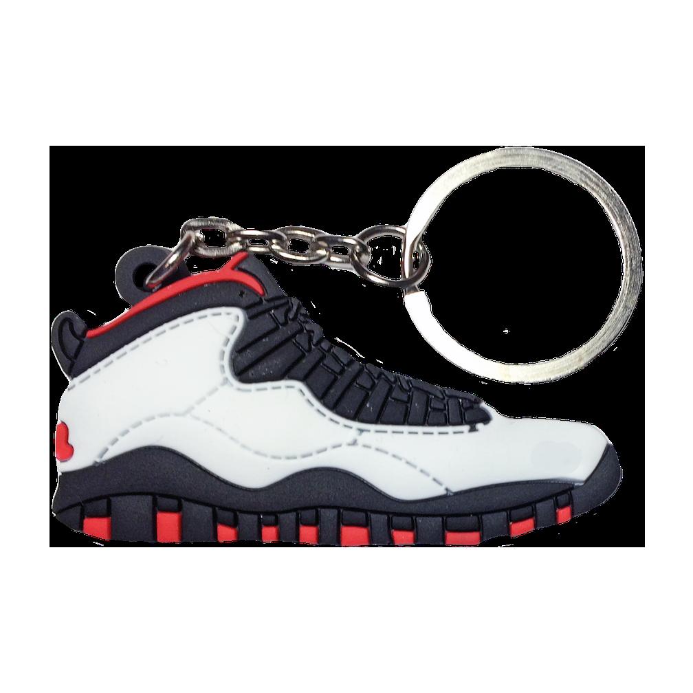 Jordan 10 'Chicago' Keychain
