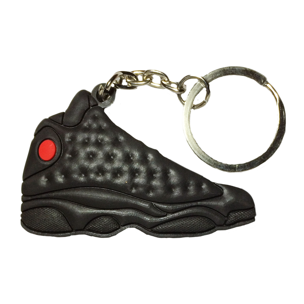 Jordan 13 'Black Cat' Keychain