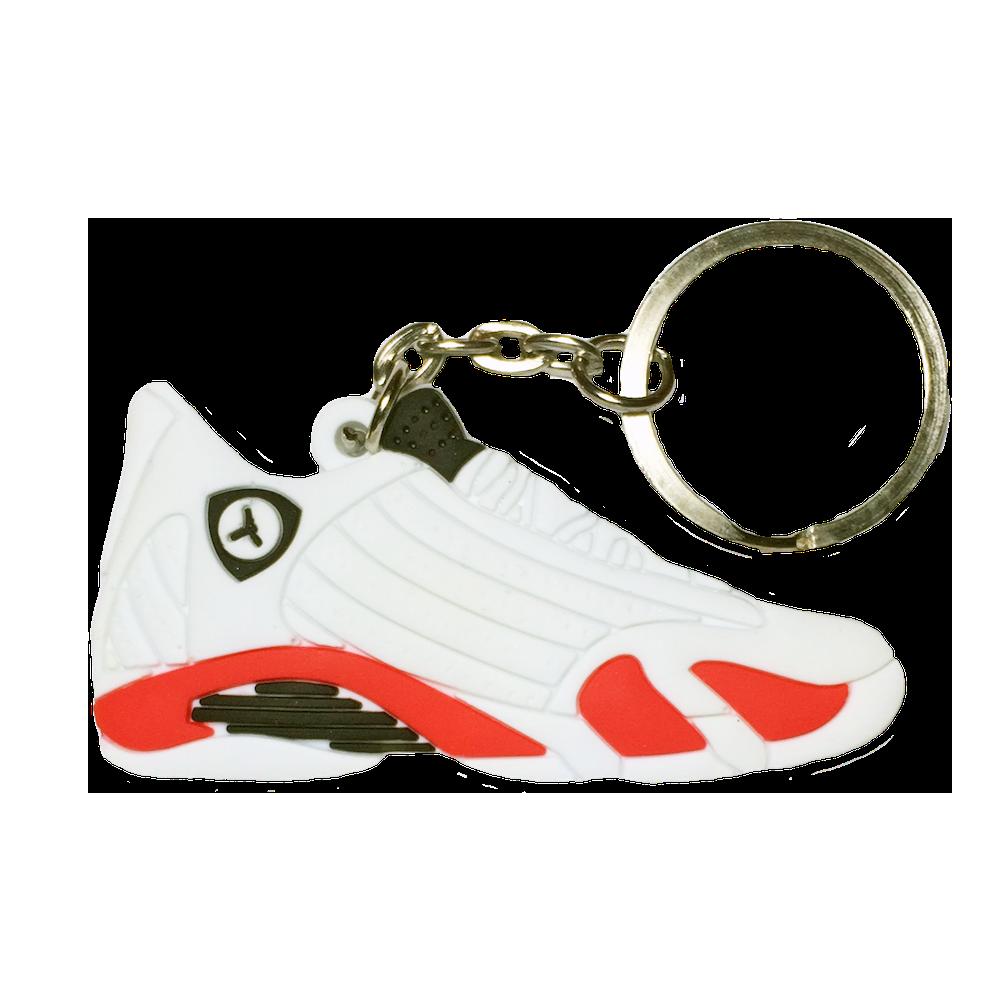Jordan 14 'Candy Cane' Keychain