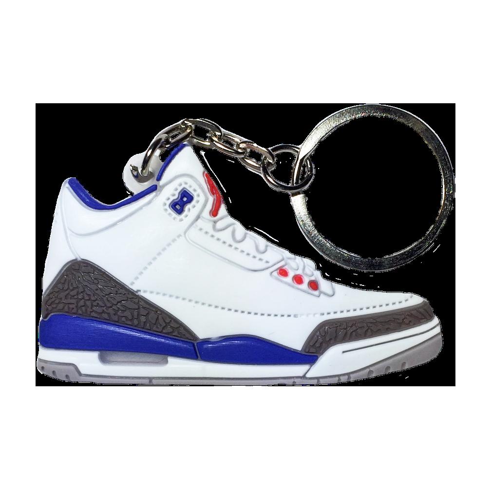 "Jordan 3 ""True Blue"" Keychain"