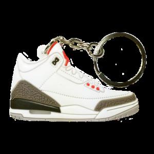 Jordan 3 'White Cement' Keychain