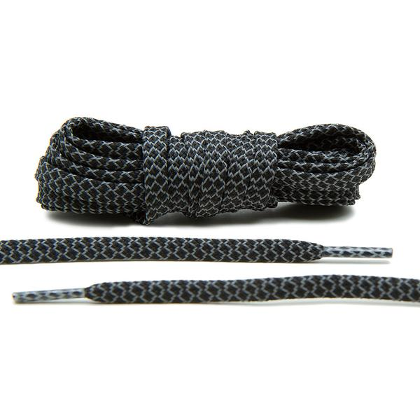 Black- 3M Reflective Flat Laces