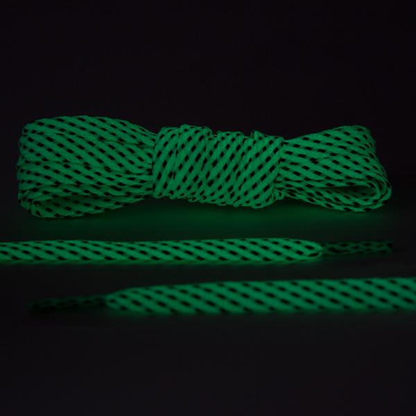 Glow In The Dark 3M Reflective Flat Laces