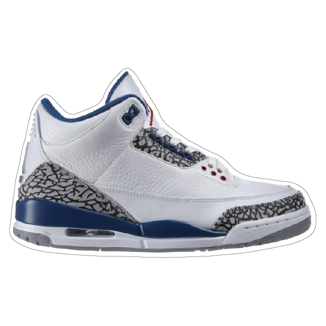 "Jordan 3 ""True Blue"" Shoe Box Sticker"