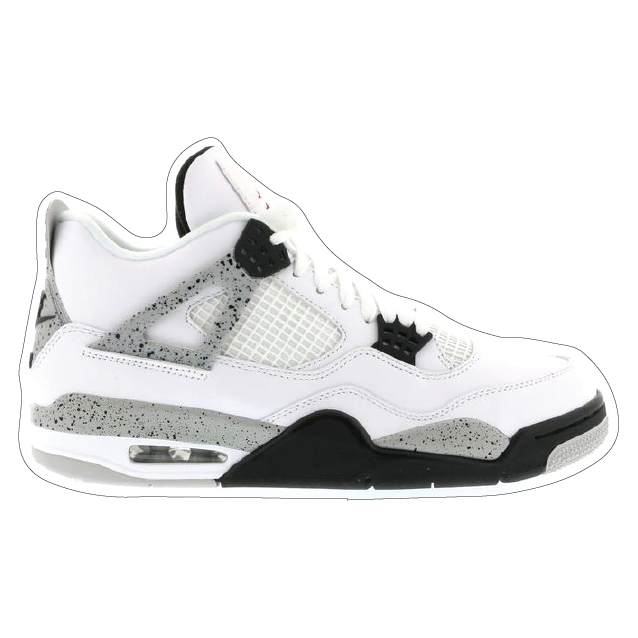 "Jordan 4 ""White Cement 2015"" Shoe Box Sticker"