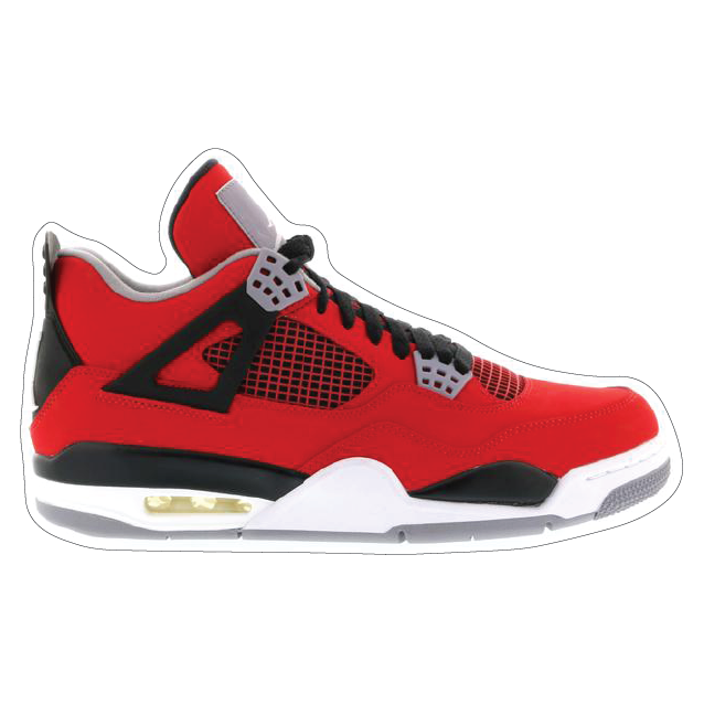 "Jordan 4 ""Toro"" Shoe Box Sticker"