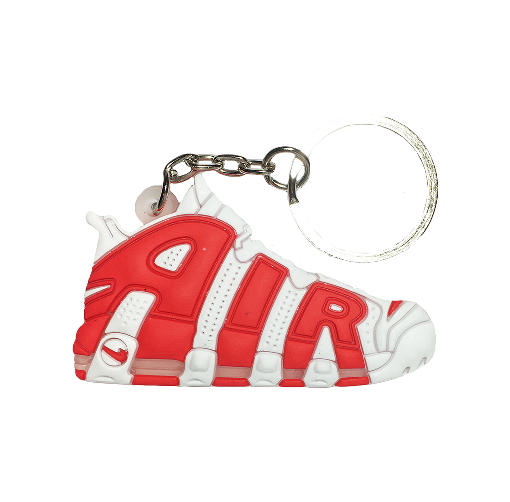 Nike Uptempo White/Red Keychain