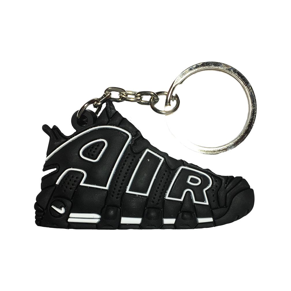 Nike Uptempo Black/White Keychain