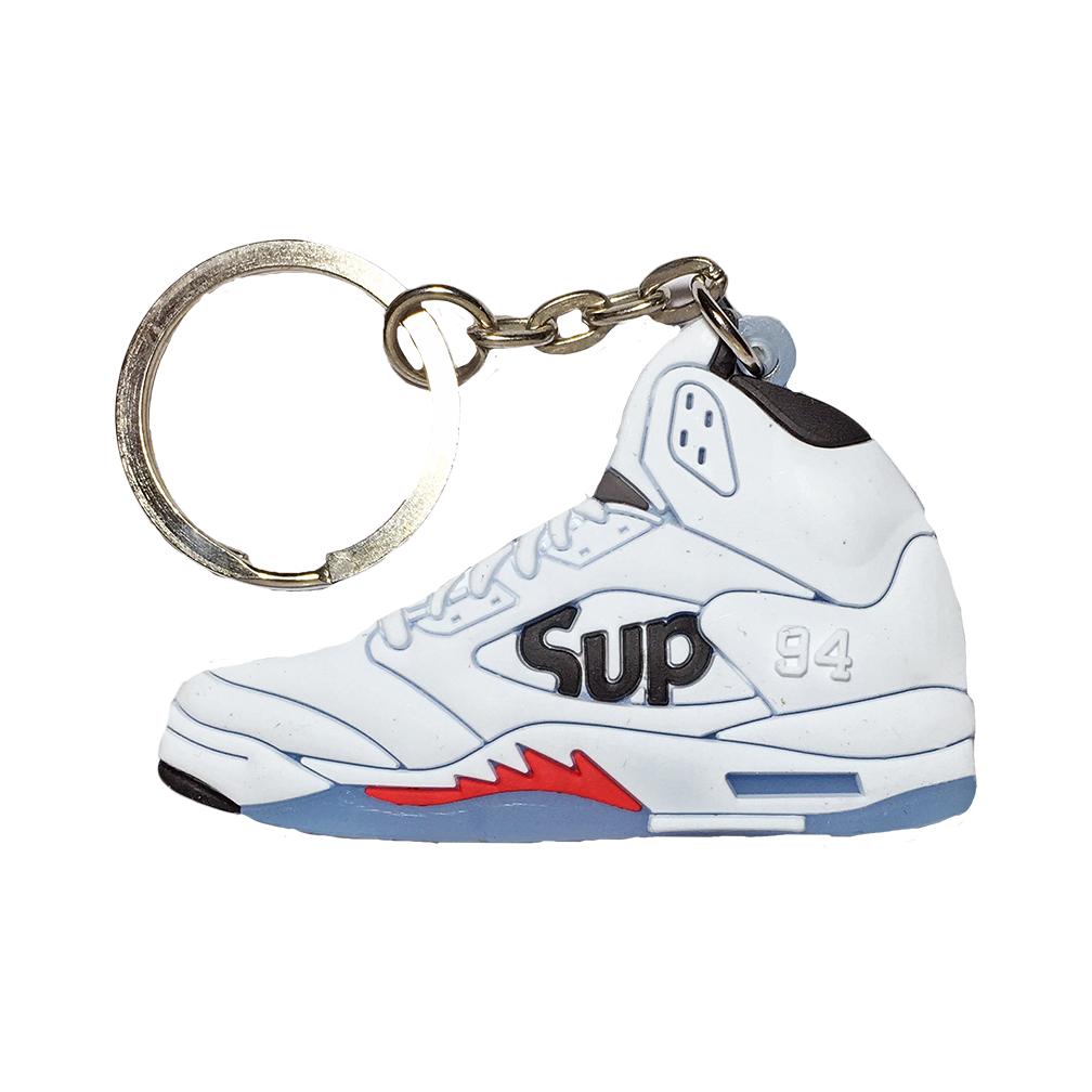 "Jordan 5 Sepreme ""White"" Keychain"