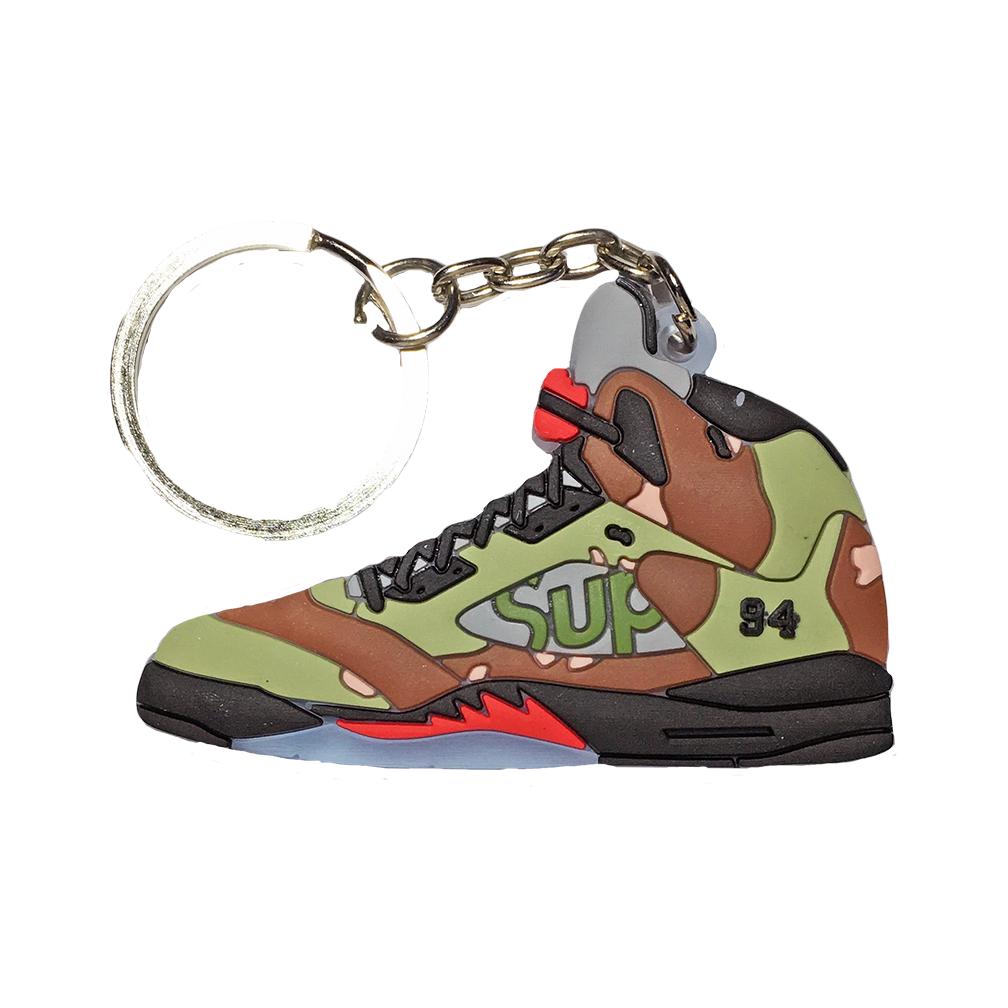 """Jordan 5 Sepreme """"Desert Camo"""" Keychain"""