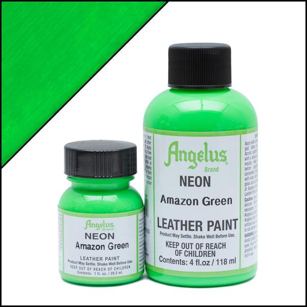 Angelus Neon Amazon Green Paint 1 Oz.