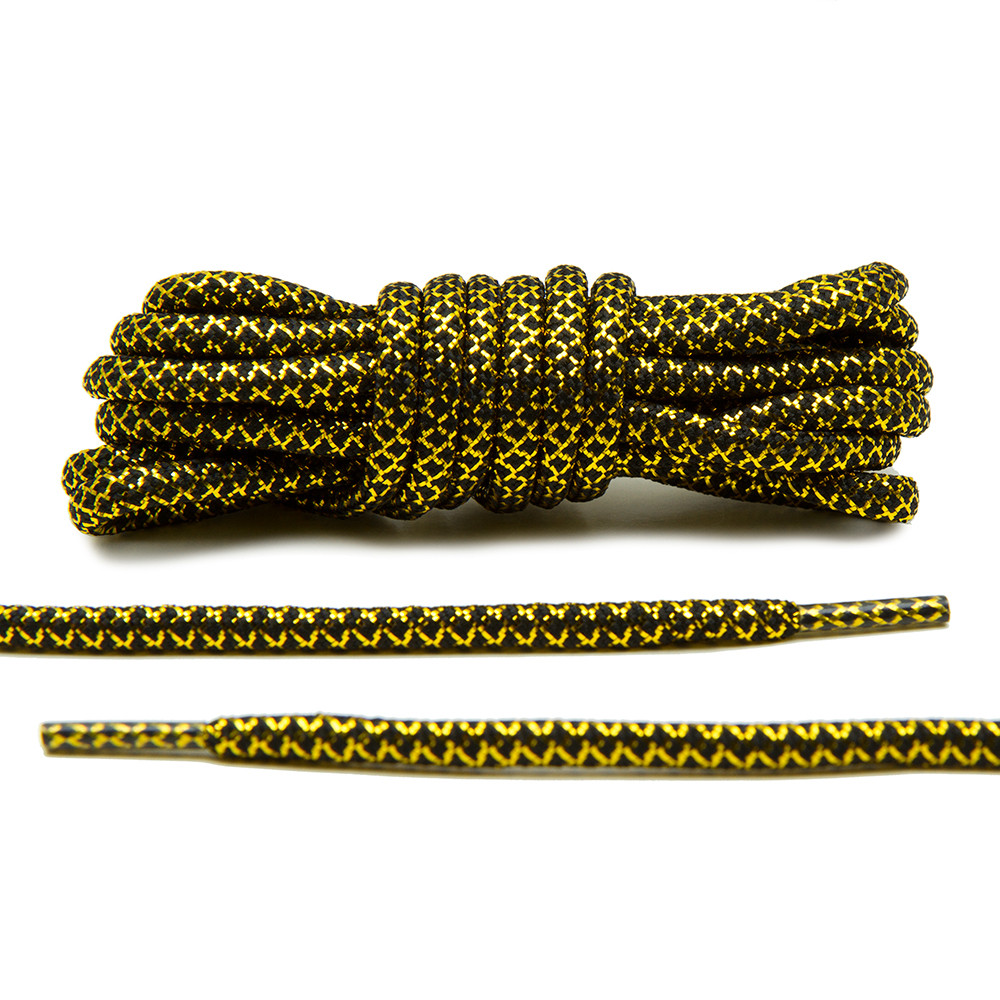 Metallic Gold/Black – Rope Laces