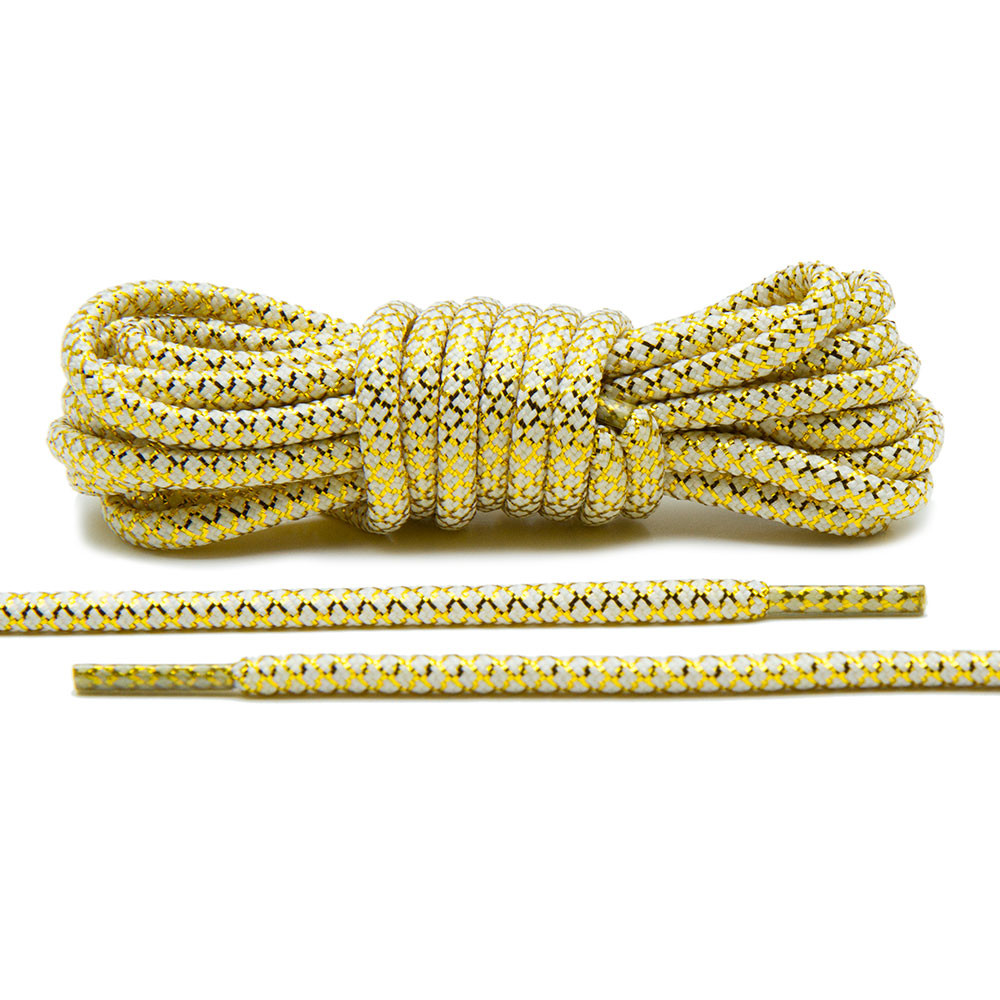 Metallic Gold/White – Rope Lace