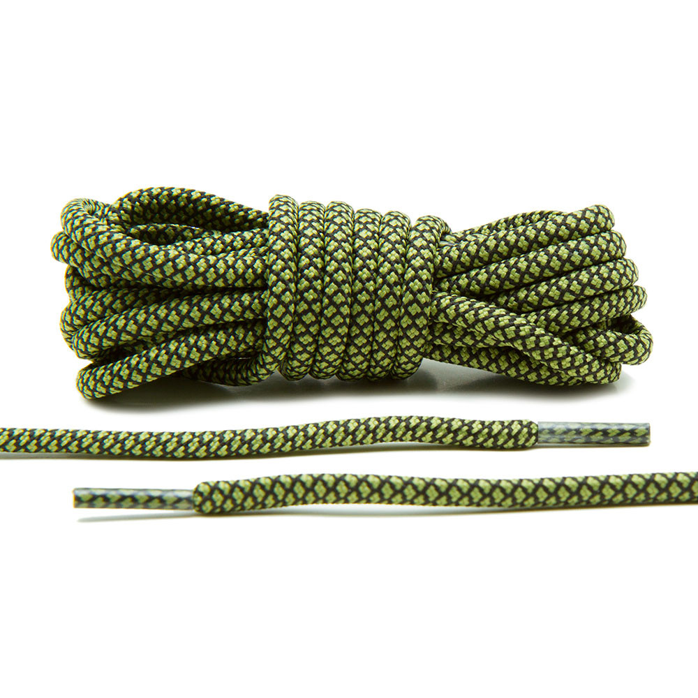 Olive/Black – Rope Laces
