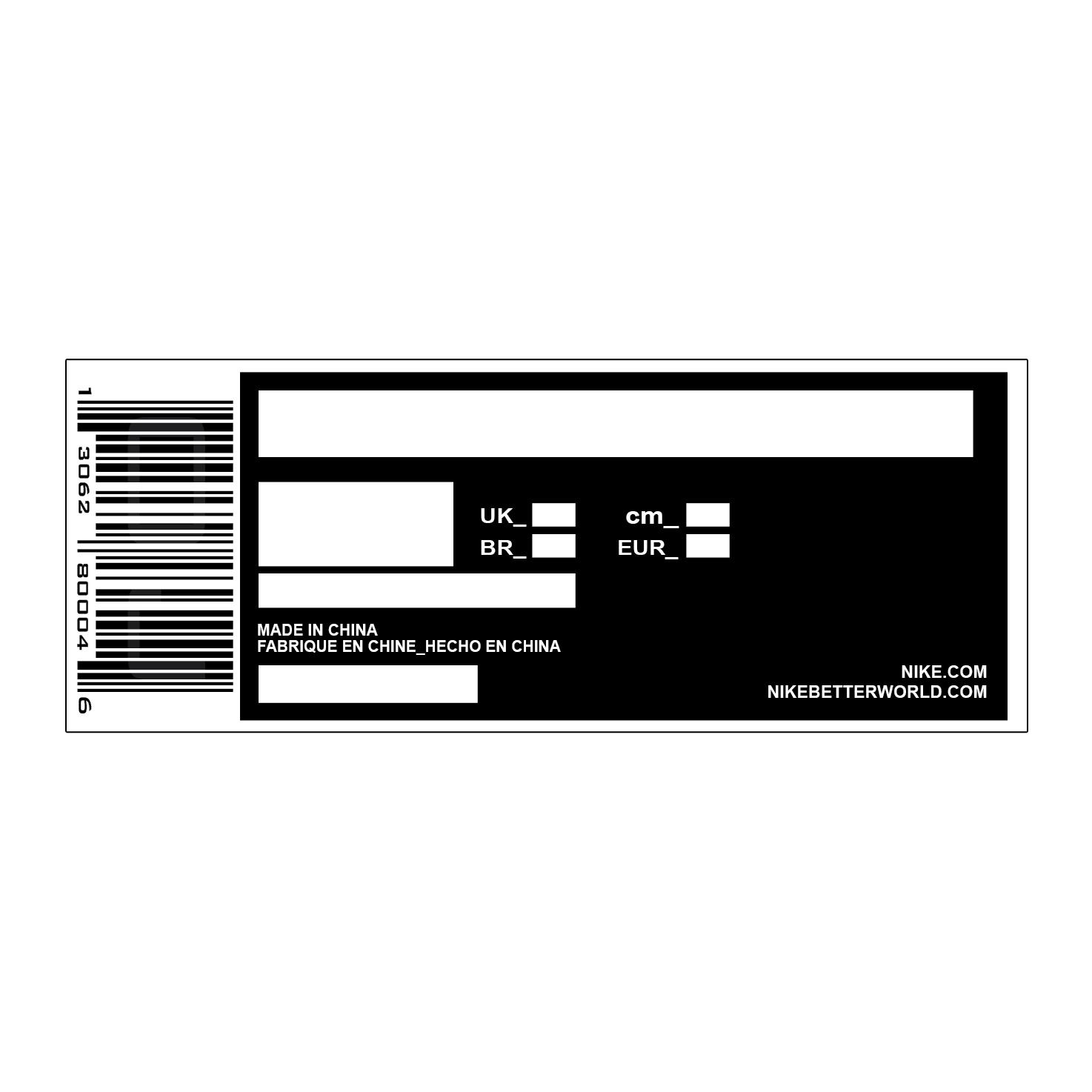 Universal Nike Shoe Box Label