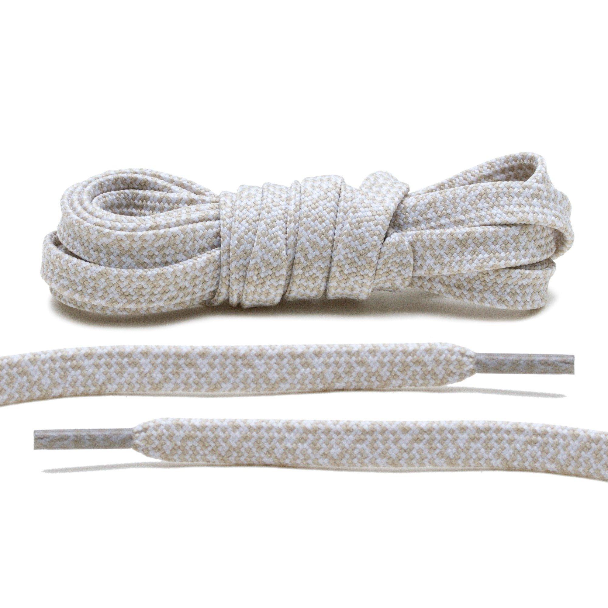Beige/White – Multi-Colour Flat Laces