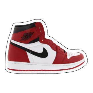 "Jordan 1 ""Chicago 2015"" Shoe Box Sticker"