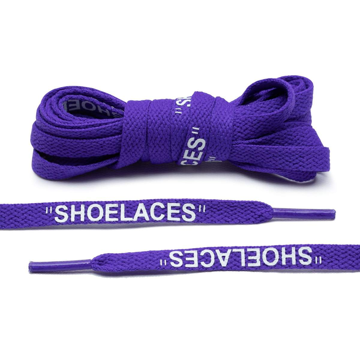 "Purple Off-White Style ""Shoelaces"""