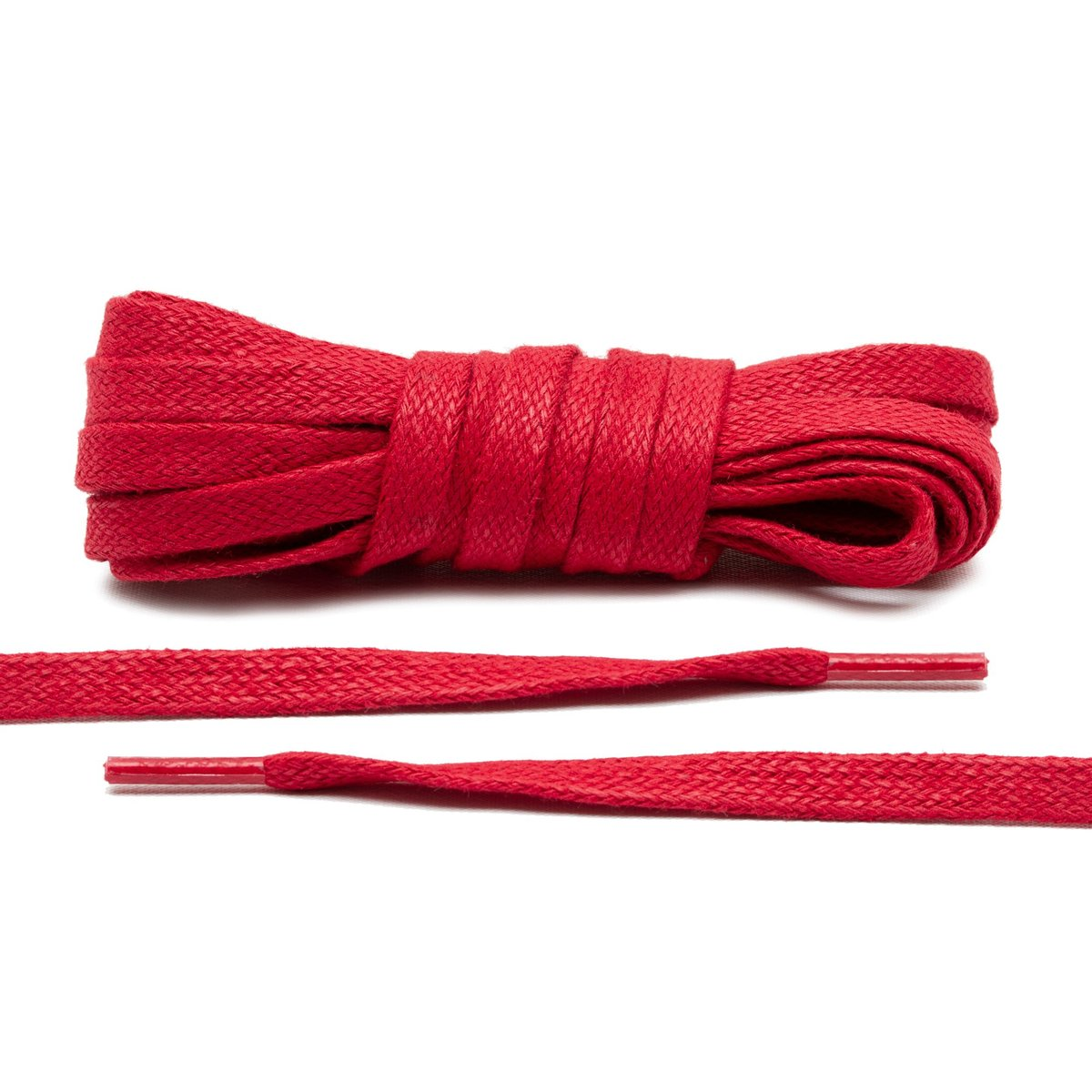 Red – Wax Flat Laces