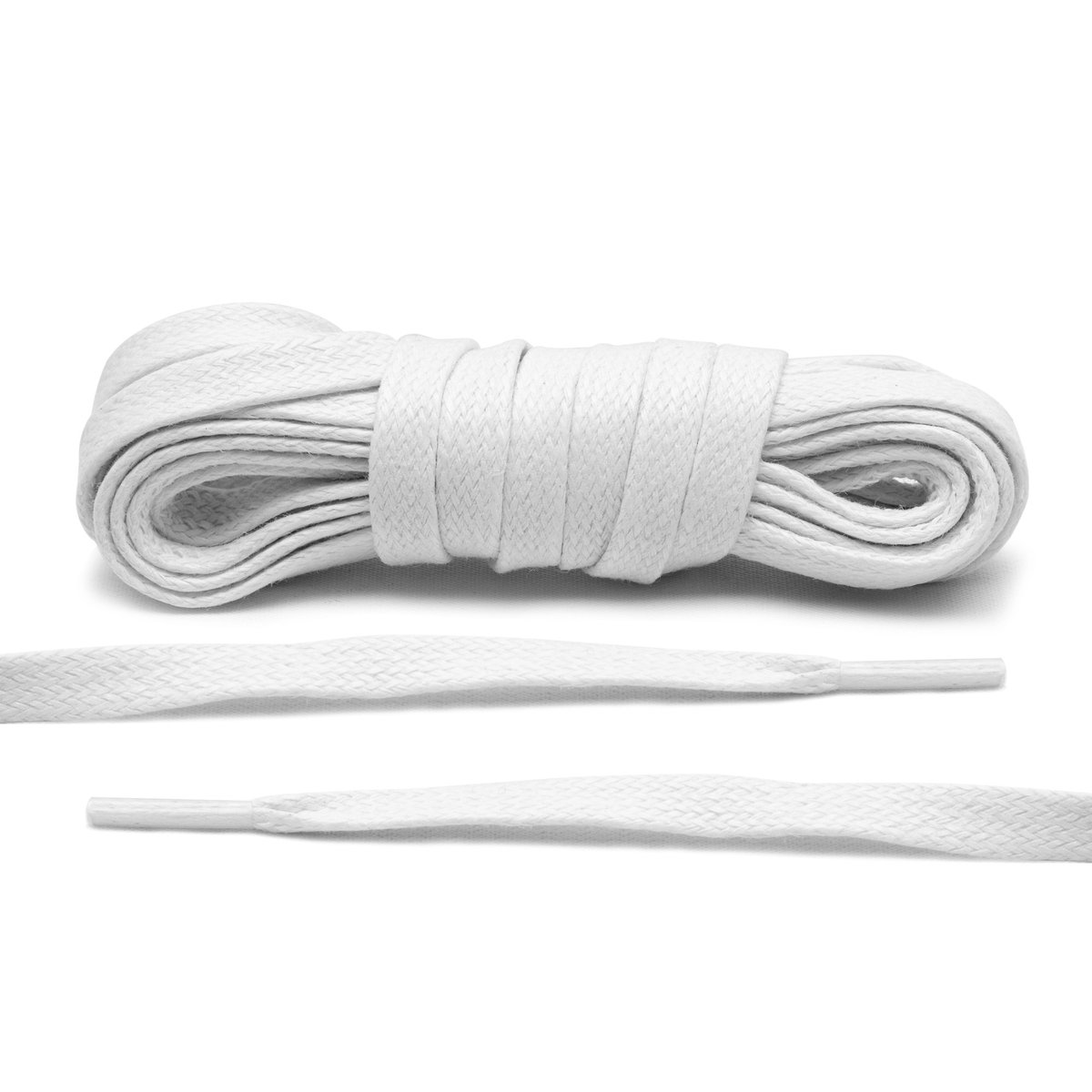 White – Wax Flat Laces